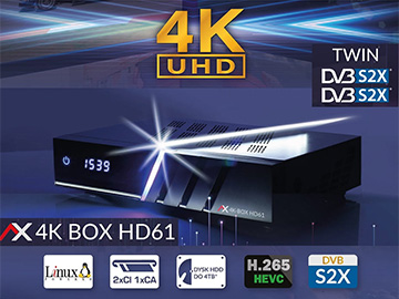 AX 4K BOX HD61 - test odbiornika